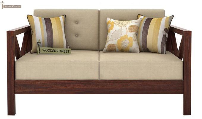 Veneker Wooden Sofa 2+1+1 Set (Walnut Finish)-5