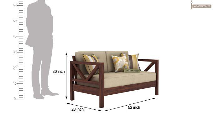 Veneker Wooden Sofa 2+1+1 Set (Walnut Finish)-7
