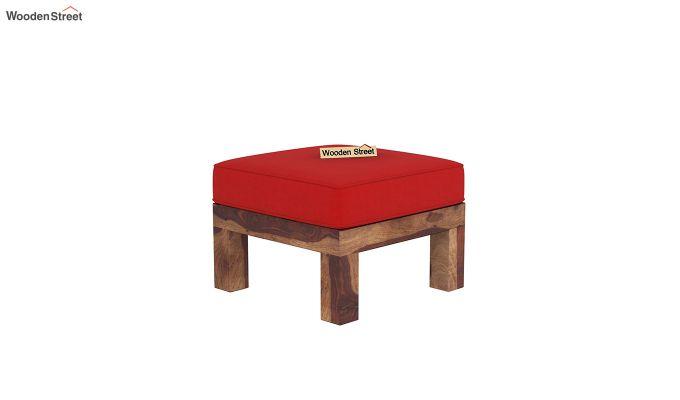 Vigo L-Shaped Wooden Sofa (Dusky Rose, Teak Finish)-8