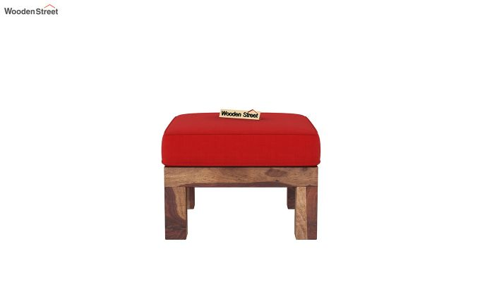 Vigo L-Shaped Wooden Sofa (Dusky Rose, Teak Finish)-9