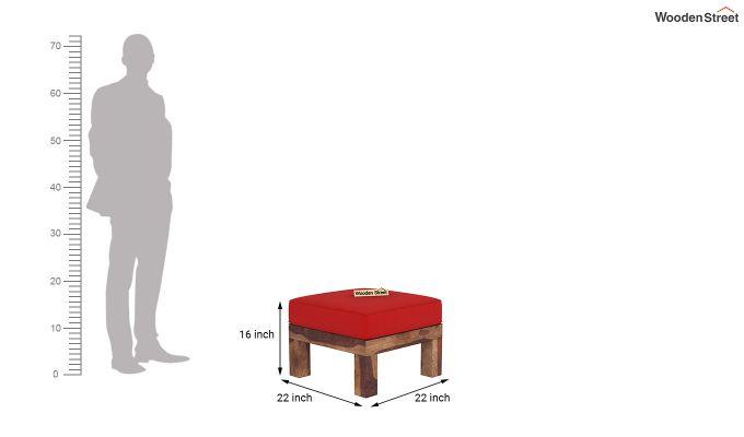 Vigo L-Shaped Wooden Sofa (Dusky Rose, Teak Finish)-1