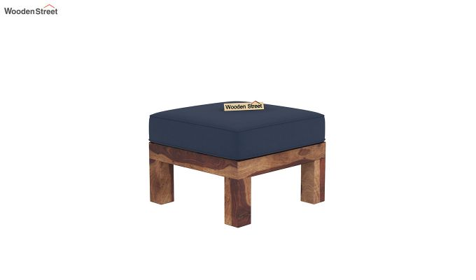 Vigo L-Shaped Wooden Sofa (Indigo Ink, Teak Finish)-7