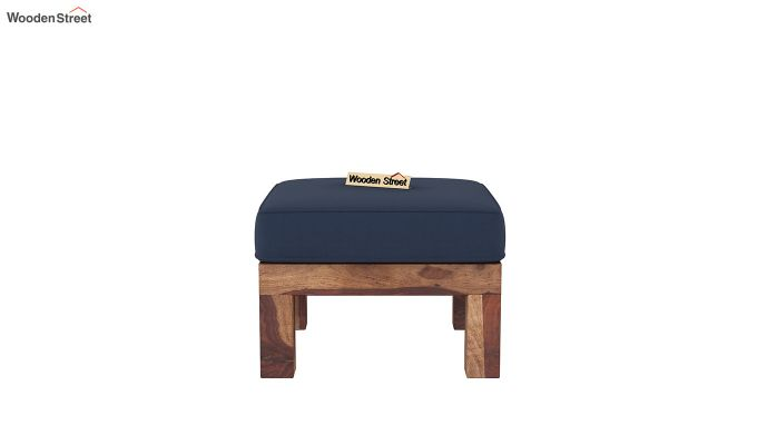 Vigo L-Shaped Wooden Sofa (Indigo Ink, Teak Finish)-8