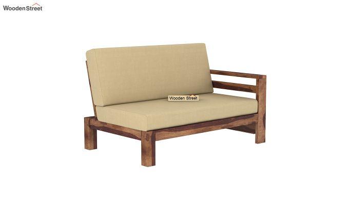 Vigo L-Shaped Wooden Sofa (Irish Cream, Teak Finish)-5