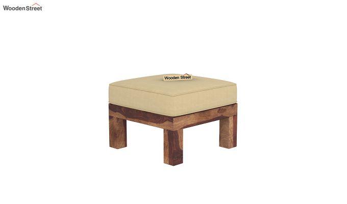 Vigo L-Shaped Wooden Sofa (Irish Cream, Teak Finish)-7