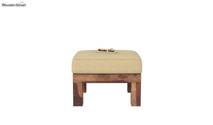 Vigo L-Shaped Wooden Sofa (Irish Cream, Teak Finish)-8