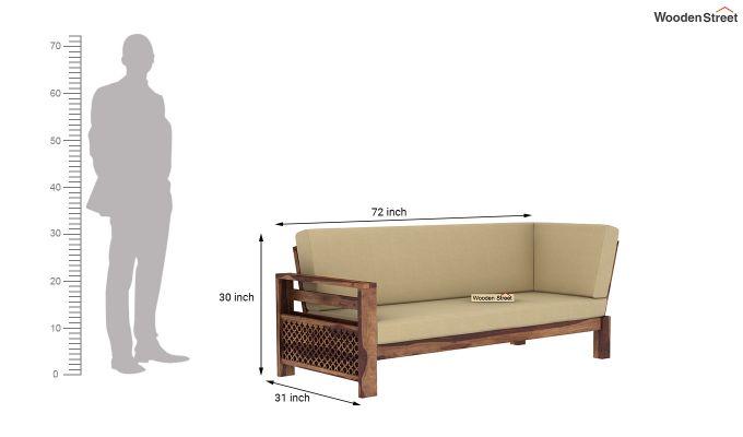 Vigo L-Shaped Wooden Sofa (Irish Cream, Teak Finish)-10