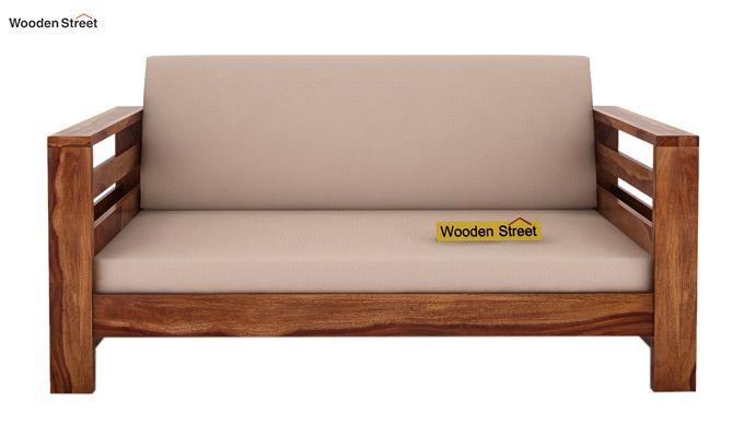 Vigo 2 Seater Wooden Sofa (Teak Finish)-2