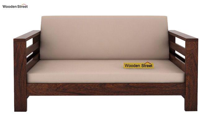 Vigo 2 Seater Wooden Sofa (Walnut Finish)-2