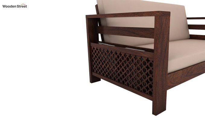 Vigo 2 Seater Wooden Sofa (Walnut Finish)-3