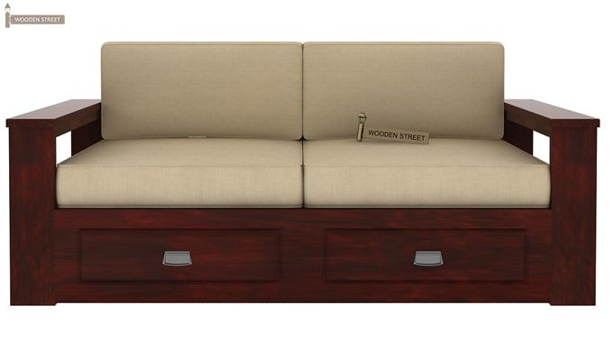 Wendel 3 Seater Sofa With Storage (Mahogany Finish)-3
