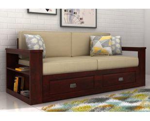 Wendel 3 Seater Sofa With Storage (Mahogany Finish)