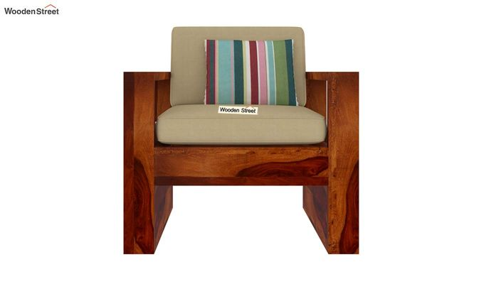 Winster 1 Seater Wooden Sofa (Honey Finish)-3