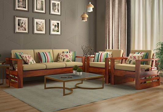 Wooden sofa set best wooden sofa set online in india upto - Cheap living room furniture sets uk ...