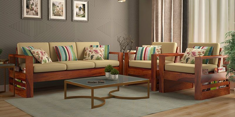 Fabulous Wooden Sofa Set Buy Wooden Sofa Set Online In India Upto 55 Download Free Architecture Designs Aeocymadebymaigaardcom