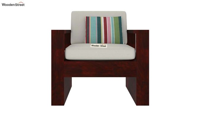 Winster 1 Seater Wooden Sofa (Mahogany Finish)-2