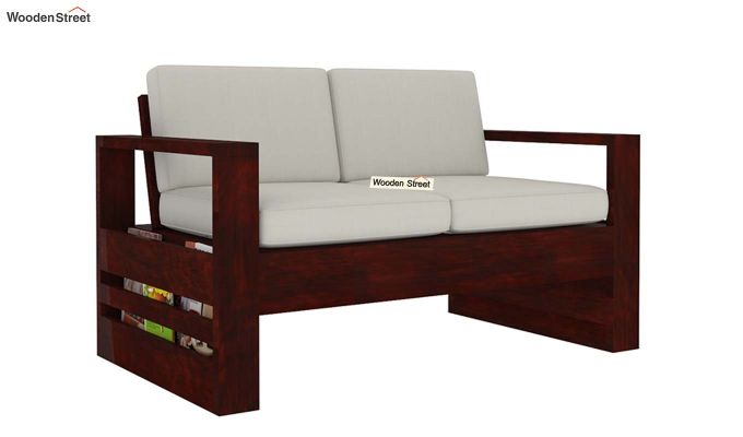 Winster 2 Seater Wooden Sofa (Mahogany Finish)-3
