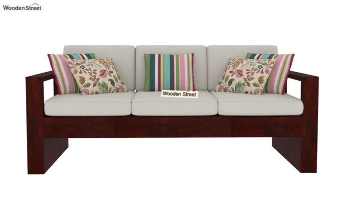 Winster 3 Seater Wooden Sofa (Mahogany Finish)-2