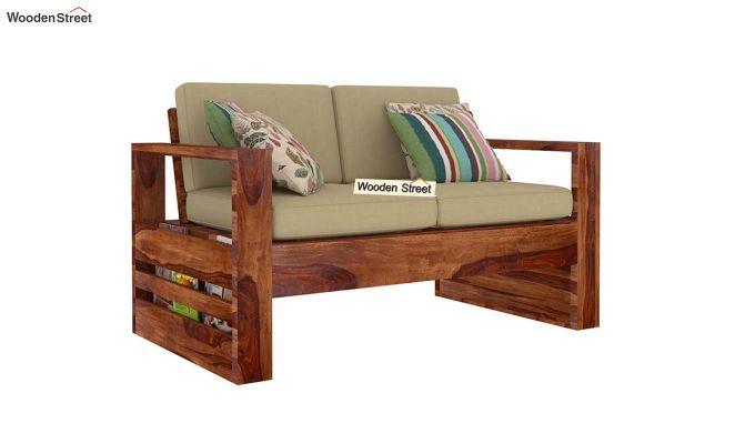Winster 2 Seater Wooden Sofa (Teak Finish)-1