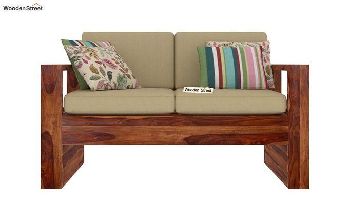 Winster 2 Seater Wooden Sofa (Teak Finish)-2