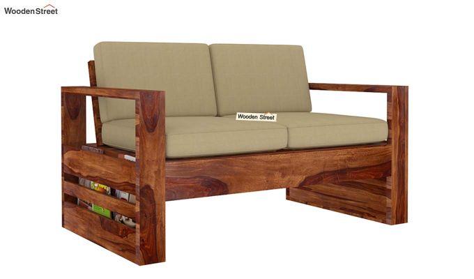 Winster 2 Seater Wooden Sofa (Teak Finish)-3