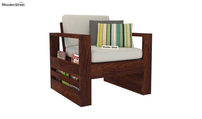 Winster 1 Seater Wooden Sofa (Walnut Finish)-2