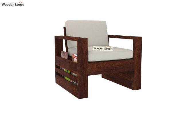 Winster Wooden Sofa 3+1+1 Sets (Walnut Finish)-4