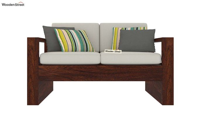 Winster 2 Seater Wooden Sofa (Walnut Finish)-3