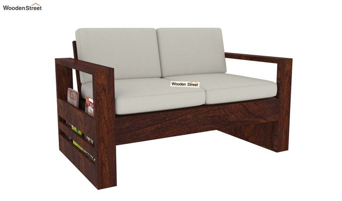 Winster 2 Seater Wooden Sofa (Walnut Finish)-4