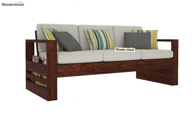 Winster Wooden Sofa 3+1+1 Sets (Walnut Finish)-5