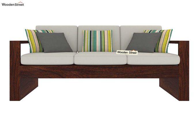 Winster Wooden Sofa 3+1+1 Sets (Walnut Finish)-6