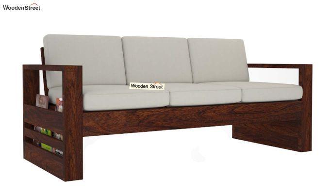 Winster Wooden Sofa 3+1+1 Sets (Walnut Finish)-7