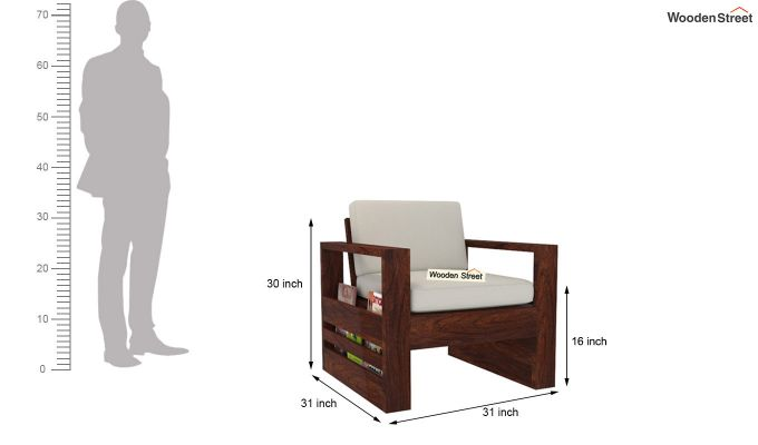 Winster Wooden Sofa 3+1+1 Sets (Walnut Finish)-9