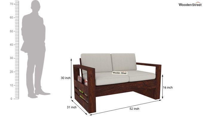 Winster Wooden Sofa 3+2 Sets (Walnut Finish)-10