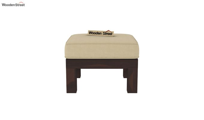 Winster L-Shaped Wooden Sofa (Irish Cream, Walnut Finish)-8