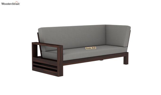 Winster L-Shaped Wooden Sofa (Warm Grey, Walnut Finish)-6