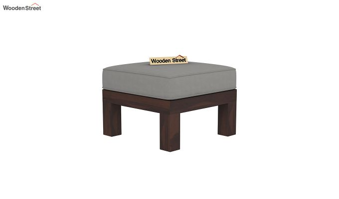 Winster L-Shaped Wooden Sofa (Warm Grey, Walnut Finish)-7