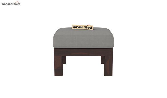 Winster L-Shaped Wooden Sofa (Warm Grey, Walnut Finish)-8