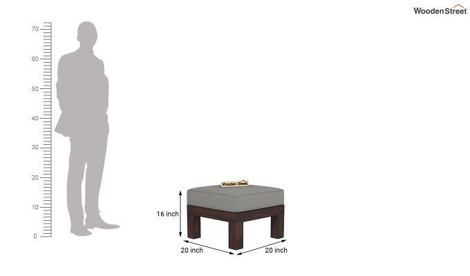 Winster L-Shaped Wooden Sofa (Warm Grey, Walnut Finish)-11