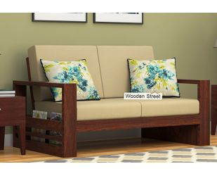 Winster 2 Seater Wooden Sofa (Walnut Finish)