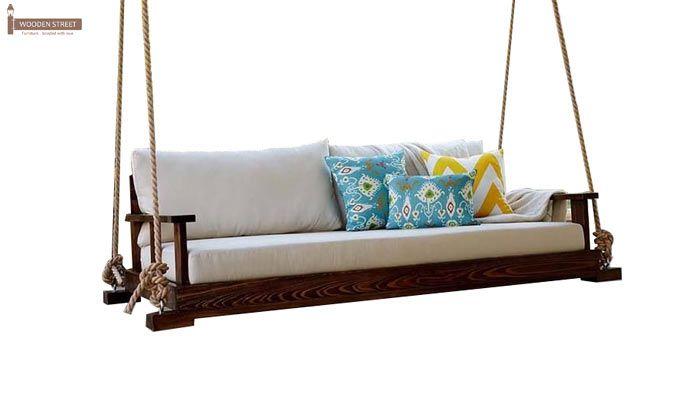 Advil Wooden Swing Chair (Mahogany Finish)-2