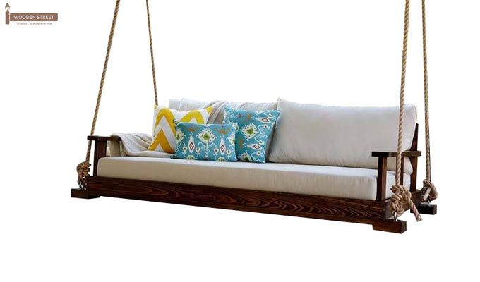 Advil Wooden Swing Chair (Mahogany Finish)-3