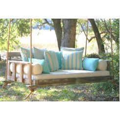 Amana Wooden Swing Chairs (Natural Finish)