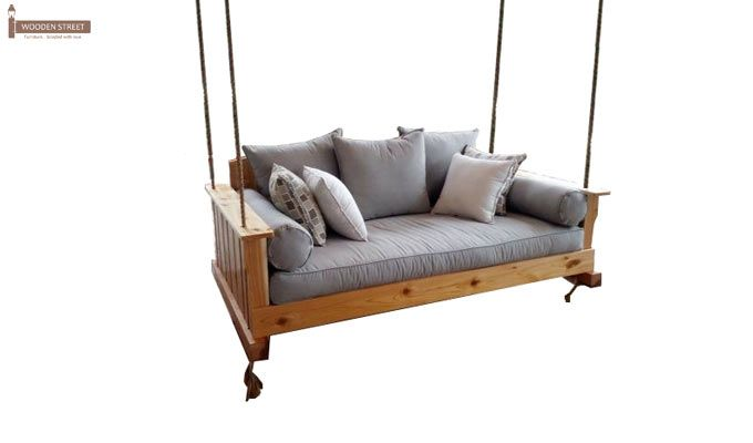 Bayer Wooden Swing Chairs (Teak Finish)-3