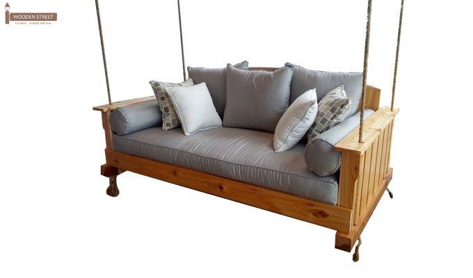 Bayer Wooden Swing Chairs (Teak Finish)-4