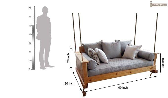 Bayer Wooden Swing Chairs (Teak Finish)-5