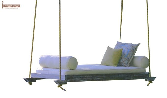 Beetle Wooden Swing Chairs (Natural Finish)-2