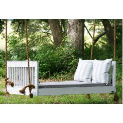 Biore Wooden Swing Chair (White Finish)
