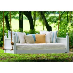 Dodge Wooden Swing Chairs (White Finish)