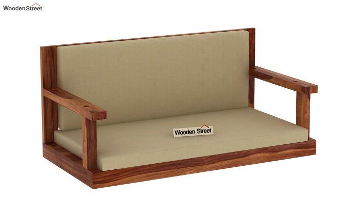 Elite Wooden Swing Chair (Teak Finish)-3
